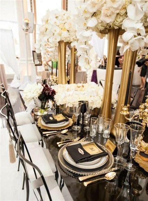 80 Adorable Black And Gold Wedding Ideas Gold wedding