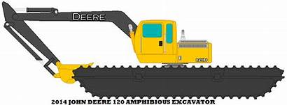 Deere John Excavator Deviantart Clipart Backhoe Amphibious