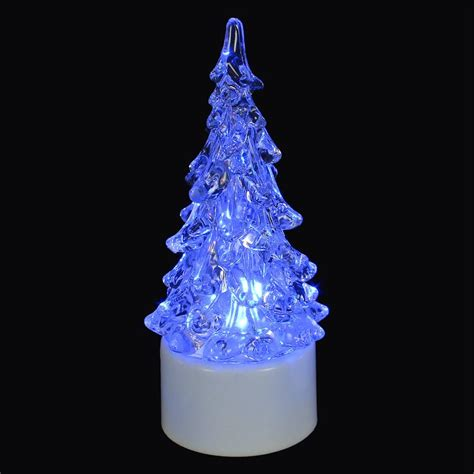 bright garden christmas tree acrylic tea light buy