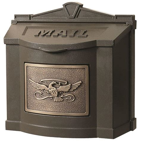wall mount mailbox gaines manufacturing eagle accent wall mount mailbox 4612