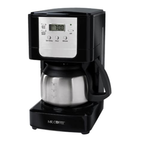 Coffee programmable drip coffee maker delivers an expertly. Mr. Coffee JWX9 5 Cup Programmable Coffeemaker With Stainless Carafe, Lighted On/Off Switch ...