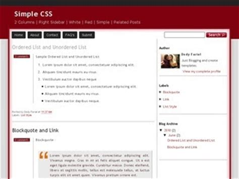 simple css templates simple css template zoomtemplate