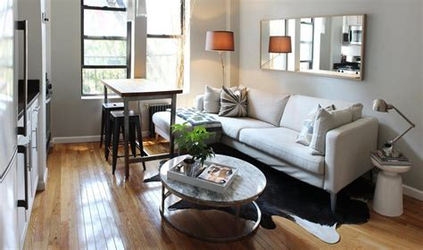 Small Living Streamlined Studio Apartment by Theo S Small Streamlined Two Bedroom In Hell S Kitchen