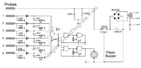 Water Level Sensor Detector Monitor With Alarm Circuit
