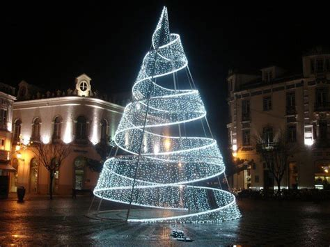 unique outdoor big led spiral christmas trees commercial