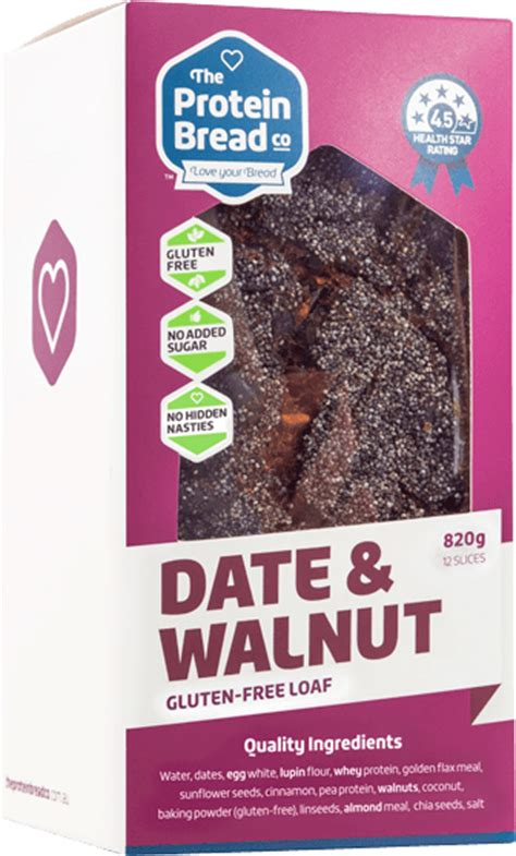 Date & Walnut Guiltfree Protein Loaf  The Protein Bread Co