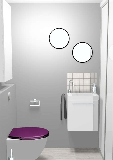 idee deco toilette en gris d 233 co wc en longueur exemples d am 233 nagements