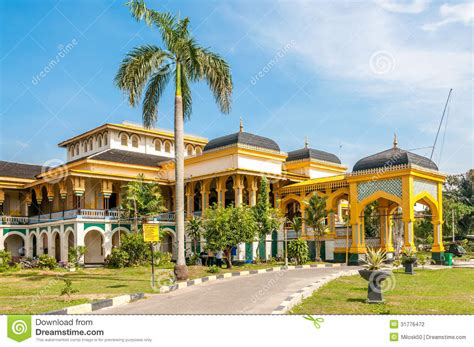 sultans palace  medan stock photo image  traveling
