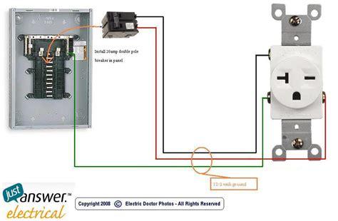 how do i install a 230 volt 47 5 outlet