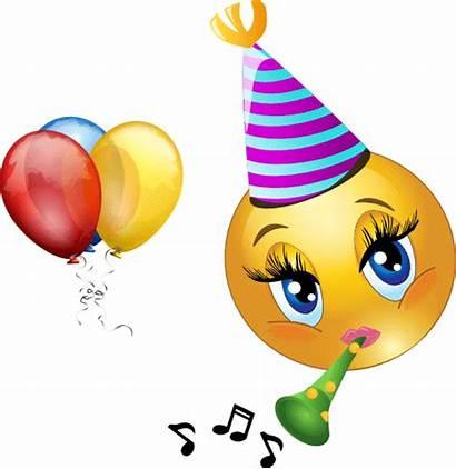 Smiley Celebrating Emoticons Symbols Birthday Party Confetti