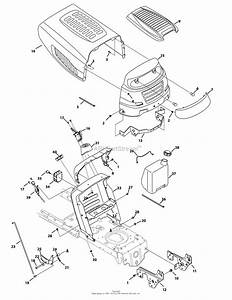 Mtd 13wx791t031  2010  Parts Diagram For Hood  Grille  U0026 Dash