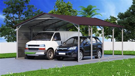 20x21 Two Car Metal Carport