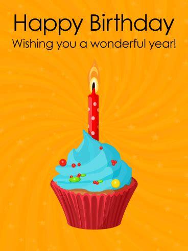 wishing   wonderful year happy birthday card