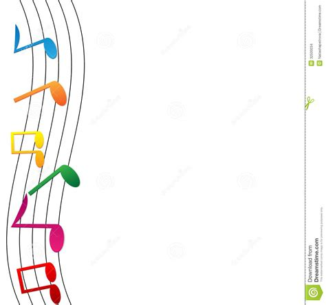 Red Orchestra 2 Wallpaper Colorful Notes On White Background Stock Vector Image 32500034