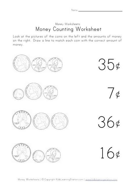 singapore math kindergarten worksheets counting money worksheets this of money