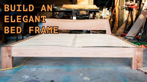 building  beautiful queen size bed frame youtube