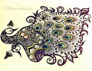 A Beautiful Peacock Drawing | My mehandi or henna designs ...