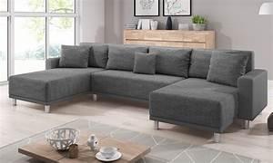 U Form Sofa : sofa road grau u form schlafsofa ecksofa kaufen bei inter handels gmbh ~ Buech-reservation.com Haus und Dekorationen