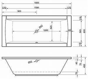 Spannbettlaken 80 X 180 : rechteck badewanne mit sch rze 180 x 80 cm berlauf mittig ~ Eleganceandgraceweddings.com Haus und Dekorationen