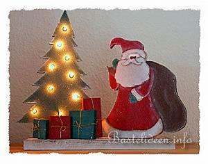 Bastelideen Holz Weihnachten : basteln mit holz weihnachtsmann und beleuchteter weihnachtsbaum ~ Orissabook.com Haus und Dekorationen