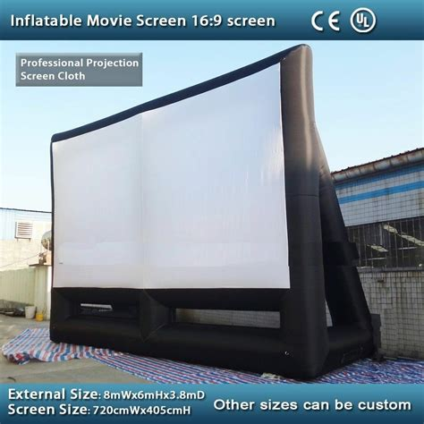 large inflatable  screen ft  ft inflatable