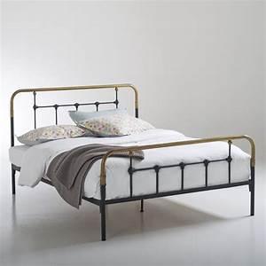Lit En Metal 140x190 : 1000 ideas about lit metal on pinterest meubles en ligne lit adulte and lit 2 personnes ~ Teatrodelosmanantiales.com Idées de Décoration