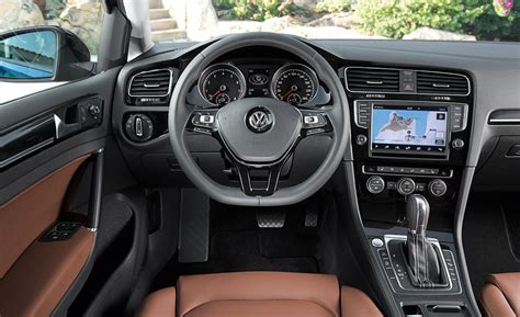 volkswagen golf interior car and driver