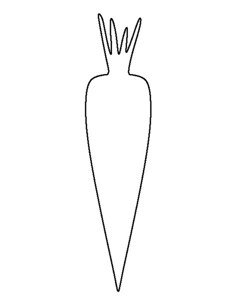 carrot template printable carrot template