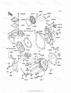 Kawasaki Motorcycle 1996 Oem Parts Diagram For Engine Cover S