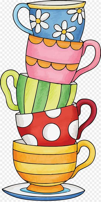 Cup Clipart Coffee Tea Cups Stacked Teacups