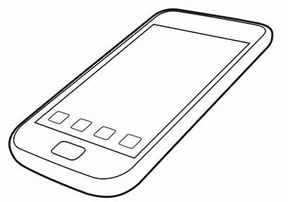 Coloring Clipart Cellphone Smartphone Phone Iphone Cell