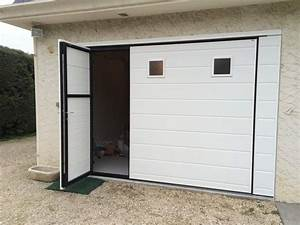 Porte de garage coulissante automatique maison travaux for Porte de garage coulissante avec gache porte pvc