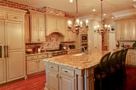 Charming Kitchen Designs With Brick Backsplash For