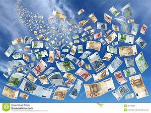 Money Falling From Sky Stock Images - Image: 35775404