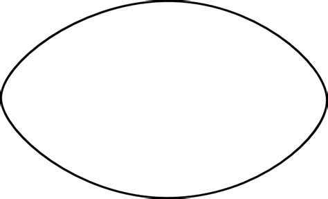 thin football outline clip art  clkercom vector clip