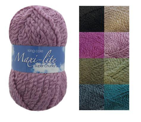 acrylic yarn king cole 100g ball maxi lite chunky knitting yarn super soft acrylic wool knit ebay
