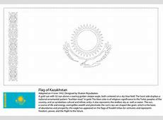 Flag of Kazakhstan coloring page Free Printable Coloring