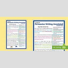 Nsw * New * Y3 Naplan Persuasive Writing Annotated Example Poster