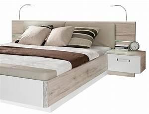 Bettgestell Weiß 160x200 : doppelbett rubio 3 sandeiche wei hochglanz 160x200 bett mit 2x nako wohnbereiche schlafzimmer ~ Indierocktalk.com Haus und Dekorationen