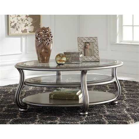 signature design  ashley coralayne oval cocktail table