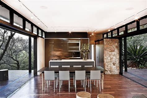 moderna casa de campo  estructura acero construye hogar
