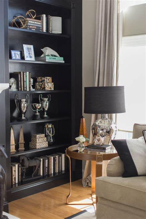 Rooms That Prove Black Builtin Bookcases Are The Next Big