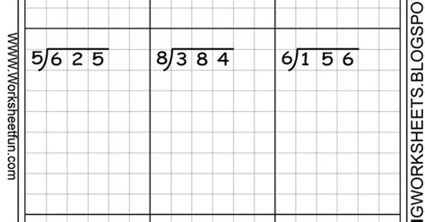 long division graph paper and division on pinterest