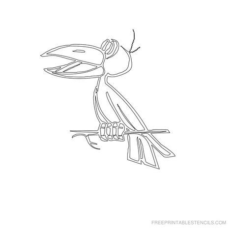 printable bird stencil pictures  printable stencils