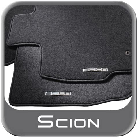 Scion Tc Floor Mats 2009 by 2005 2010 Scion Tc Carpeted Floor Mats Black W Logo