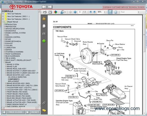 service repair manual free download 2004 toyota matrix parking system toyota corolla