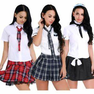 Women Schoolgirl Outfit Sexy Uniform Ladies Police Nurse Costume Fancy Dress Up   eBay