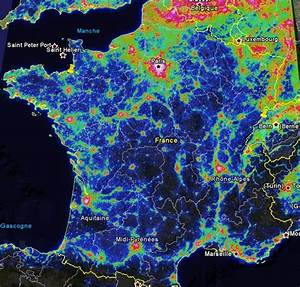 Carte France Pollution : carte pollution lumineuse france carte du monde ~ Medecine-chirurgie-esthetiques.com Avis de Voitures