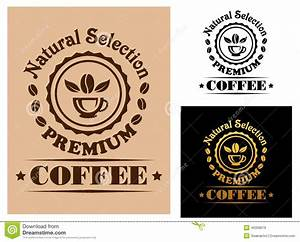 natural selection premium coffee label stock vector With coffee cup labels