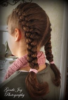 gentle joy photography pigtails  french braids